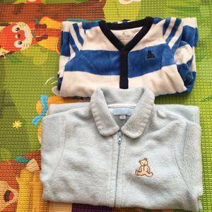3-6m Boy Fleece Playsuits